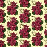 Naadloze achtergrond met bloempatroon Royalty-vrije Stock Fotografie
