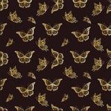 Naadloze achtergrond met butterflyes Stock Afbeelding