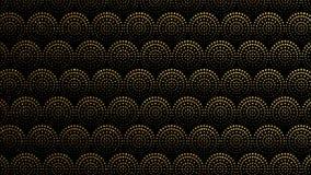 Naadloze achtergrond met cirkels, punten geometrisch patroon Van een lus voorzien 4K-grafische motie vector illustratie