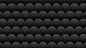 Naadloze achtergrond met cirkels, punten geometrisch patroon Van een lus voorzien 4K-grafische motie stock illustratie