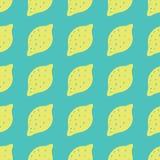 Naadloze achtergrond met citroenen Citroenen die patroon voor textielontwerp herhalen royalty-vrije illustratie