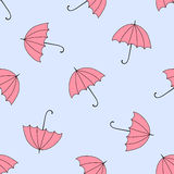 Naadloze achtergrond met de herfst en kleurrijke parasols Stock Foto's
