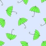 Naadloze achtergrond met de herfst en kleurrijke parasols Stock Afbeeldingen