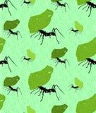 Naadloze achtergrond met de mieren van de bladsnijder Stock Foto's