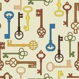 Naadloze achtergrond met de sleutels Royalty-vrije Stock Afbeeldingen
