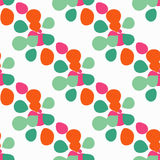 Naadloze achtergrond met decoratieve kleurrijke bloemblaadjes Vector illustratie Royalty-vrije Stock Afbeeldingen