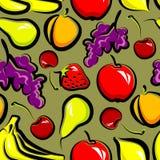 Naadloze achtergrond met fruit Stock Foto