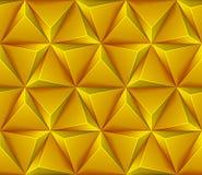 Naadloze achtergrond met gele driehoeken Stock Fotografie