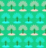 Tot bloei komende bomen. Royalty-vrije Stock Foto's