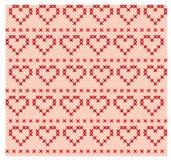 Naadloze achtergrond met gevoelig symmetrisch ornamentpatroon Stock Afbeelding