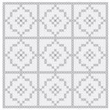 Naadloze achtergrond met gevoelig symmetrisch ornamentpatroon Royalty-vrije Stock Afbeelding
