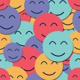 Naadloze achtergrond met glimlachen Stock Foto's