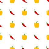 Naadloze achtergrond met groenten stock illustratie
