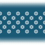 Naadloze achtergrond met halftone strepen en sneeuwvlokken Stock Fotografie