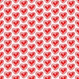 Naadloze achtergrond met harten Liefdeontwerp Romantisch art. Het patroon van de valentijnskaart Elegante achtergrond voor kaarte Stock Fotografie