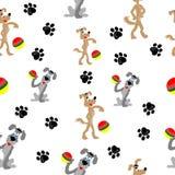 Naadloze achtergrond met honden Vector illustratie Vector Illustratie