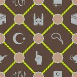 Naadloze achtergrond met Islamitische pictogrammen Royalty-vrije Stock Foto's