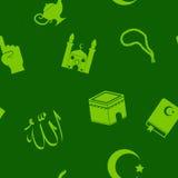 Naadloze achtergrond met Islamitische pictogrammen Stock Fotografie