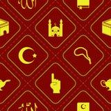 Naadloze achtergrond met Islamitische pictogrammen Stock Foto