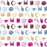 Naadloze achtergrond met Islamitische pictogrammen vector illustratie