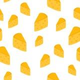 Naadloze achtergrond met kaas Stock Foto's