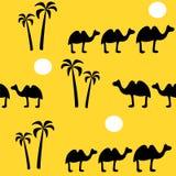 Naadloze achtergrond met kameel Royalty-vrije Stock Fotografie