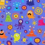Naadloze achtergrond met kleurrijke monsters Stock Foto