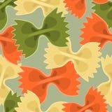 Naadloze achtergrond met kleurrijke Vlinderdasdeegwaren in vlak ontwerp vector illustratie