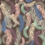 Naadloze achtergrond met palmbladen Stock Afbeeldingen