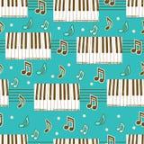 Naadloze achtergrond met piano Royalty-vrije Stock Foto