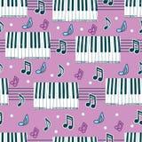 Naadloze achtergrond met piano Royalty-vrije Stock Fotografie