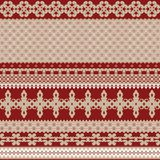 Naadloze achtergrond met rijk rood die ornament met warm beige wordt gecombineerd royalty-vrije illustratie