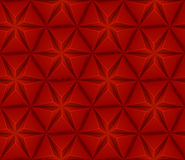 Naadloze achtergrond met rode driehoekenster Stock Fotografie