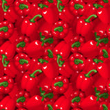 Naadloze achtergrond met rode groene paprika's. Stock Foto's
