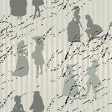 Naadloze achtergrond met silhouetten vector illustratie