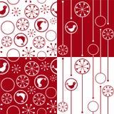 Naadloze achtergrond met sneeuwvlokken en vogels vector illustratie