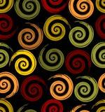 Naadloze achtergrond met spiralemotief in de herfstkleuren Royalty-vrije Stock Foto