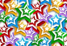 Naadloze achtergrond met sterren Stock Foto