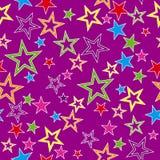 Naadloze achtergrond met sterren Royalty-vrije Stock Afbeelding