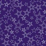 Naadloze achtergrond met sterren Royalty-vrije Stock Foto