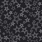 Naadloze achtergrond met sterren Royalty-vrije Stock Foto's