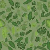 Naadloze Achtergrond met Tropische Bladeren Royalty-vrije Stock Fotografie