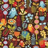 Naadloze achtergrond met uilen. vector illustratie