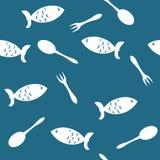 Naadloze achtergrond met vissen Stock Foto's