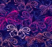 Naadloze achtergrond met vlinder Stock Foto