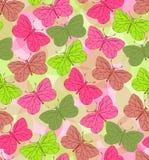 Naadloze achtergrond met vlinders Royalty-vrije Stock Foto
