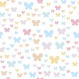 Naadloze achtergrond met vlinders De gevoelige kleuren zijn passend voor de partijen en de dingen van kinderen vector illustratie