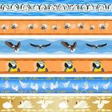 Naadloze achtergrond met vogels stock illustratie