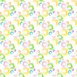 Naadloze achtergrond met waterverfringen De waterverfcirkels van de handtekening Kleurrijke achtergrond van het kunst de naadloze Stock Afbeelding