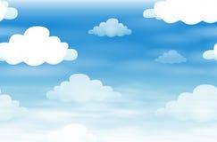 Naadloze achtergrond met wolken in de hemel stock illustratie